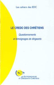 couverture du cahier des EDC le credo des chrétiens