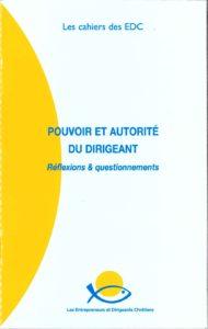Couverture du Cahier des EDC Pouvoir et autorité du dirigeant