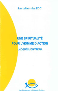 couverture du cahier EDC Spiritualité pour l'homme d'action