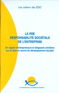 couverture du cahier sur la responsabilité sociétale de l'entreprise