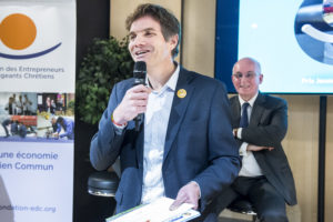 Yann Bucaille / 4 décembre 2018 : Remise du prix Philibert VRAU, par la fondation des entrepreneurs et dirigeants chrétiens. Paris (75), Paris.