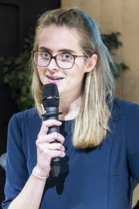 Aurélie Lavaud /4 décembre 2018 : Remise du prix Philibert VRAU, par la fondation des entrepreneurs et dirigeants chrétiens. Paris (75), Paris.