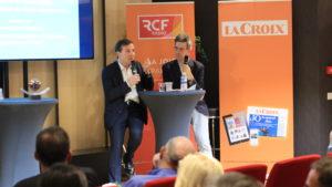 Olivier de la Chevasnerie, président national du réseau Entreprendre et Vincent de Féligonde, Chef du service Economique et social au quotidien La Croix