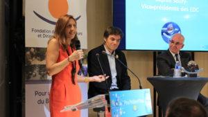 Sophie Soury, vice-présidente des EDC et Yann Bucaille